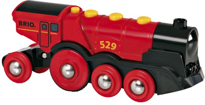 Brio - Mohutná el. červená lokomotiva