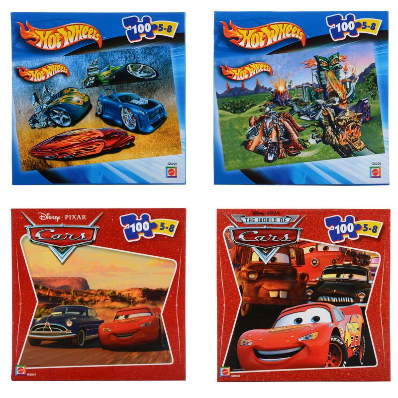 Puzzle 100 dílků - Cars