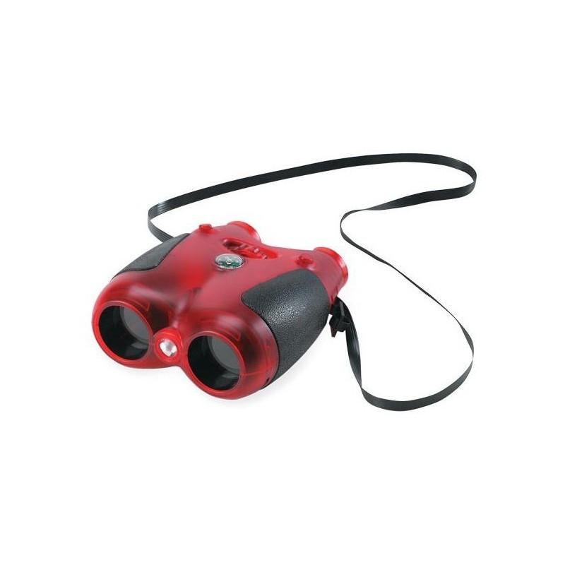 Safari Ltd. - Červený dalekohled se světlem a kompasem