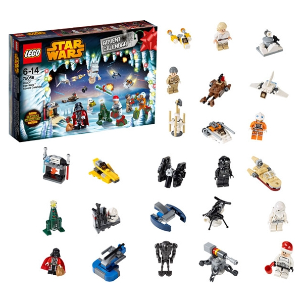star wars adventni kalendar Lego Star Wars 75056   Adventní kalendář   Hračky Domino star wars adventni kalendar