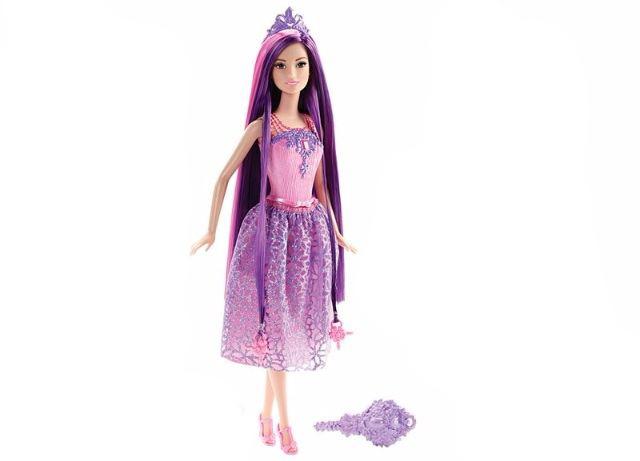 Barbie - Dlouhovláska, fialová