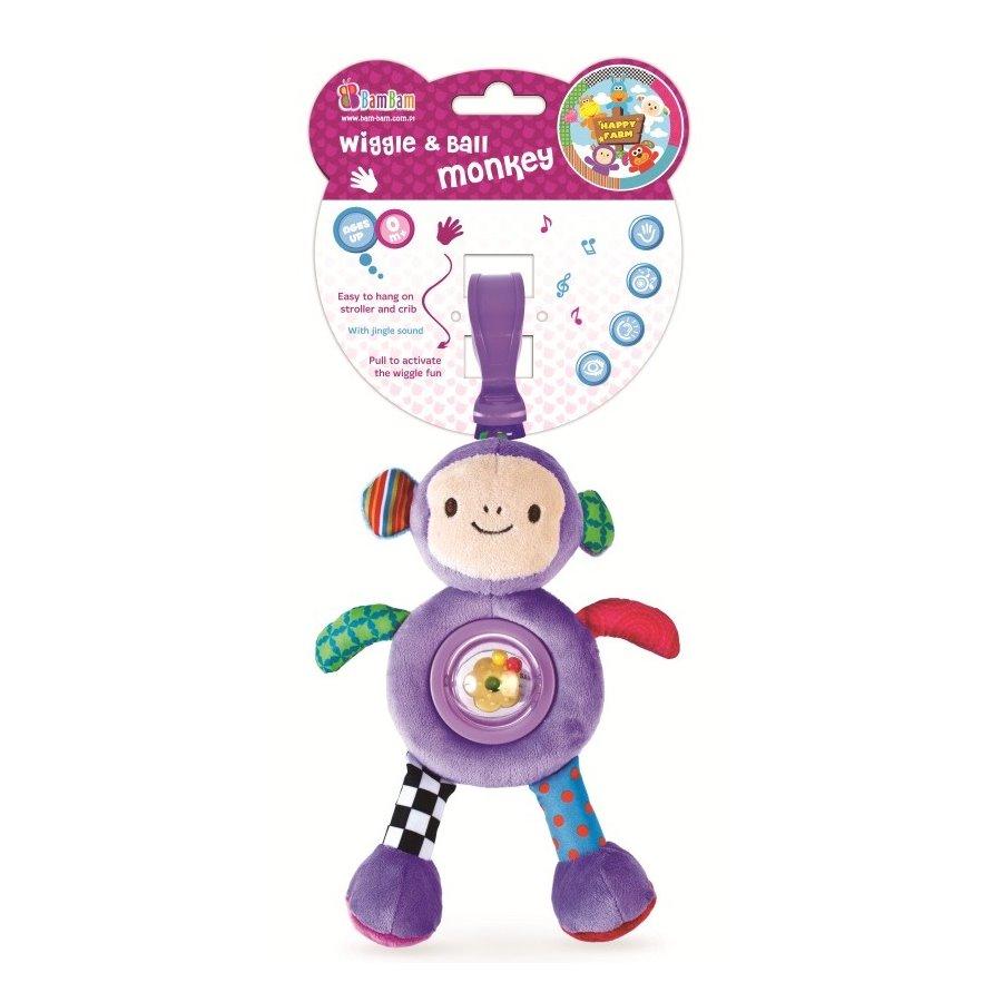 Bam Bam - Vibrující přítel Opička s chrastítkem