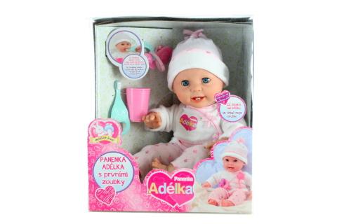 Panenka Adélka - Adélka s prvními zoubky a kartáčkem 40 cm