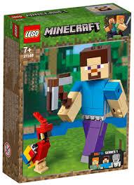 Lego Minecraft 21148 - Velká figurka: Steve s papouškem
