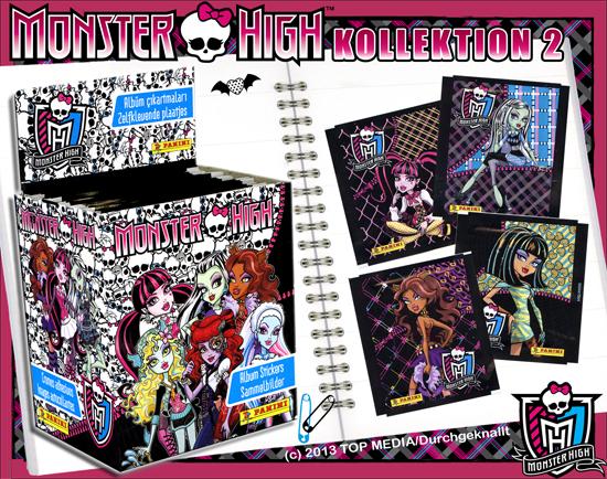 Monster High Skull life - Samolepky